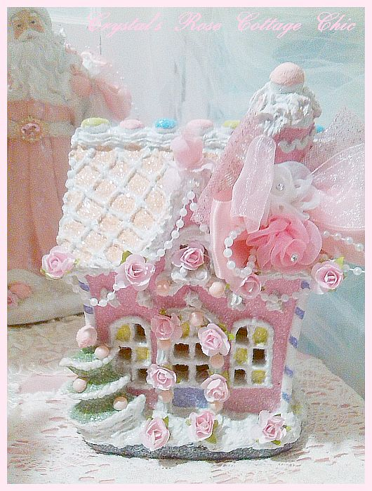Candy Pink Gingerbread House Decor
