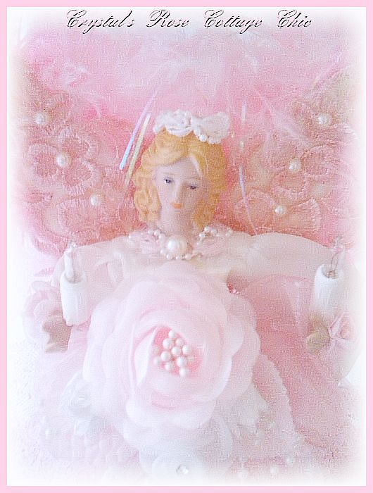 Pink Sparkles Angel Tree Topper