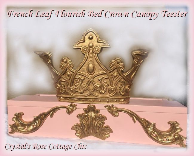 French Leaf Flourish  Bed Crown Teester