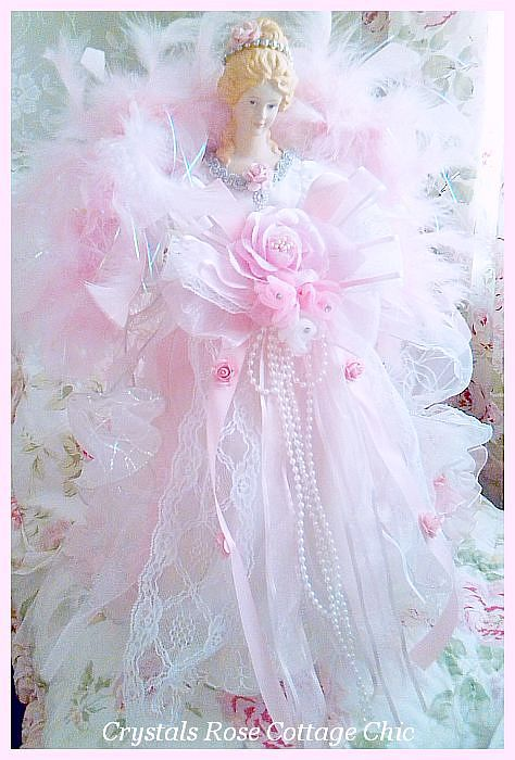 Pink Princess Angel Tree Topper Large Size