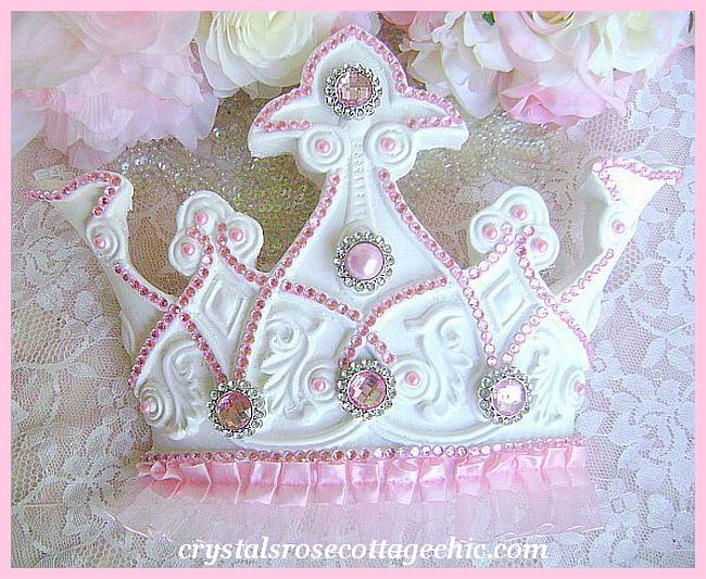 Pink Bling Princess Tutu Crown