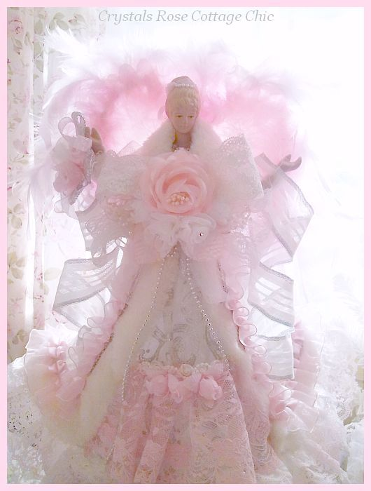 Pink Victorian Elegance Angel Tree Topper