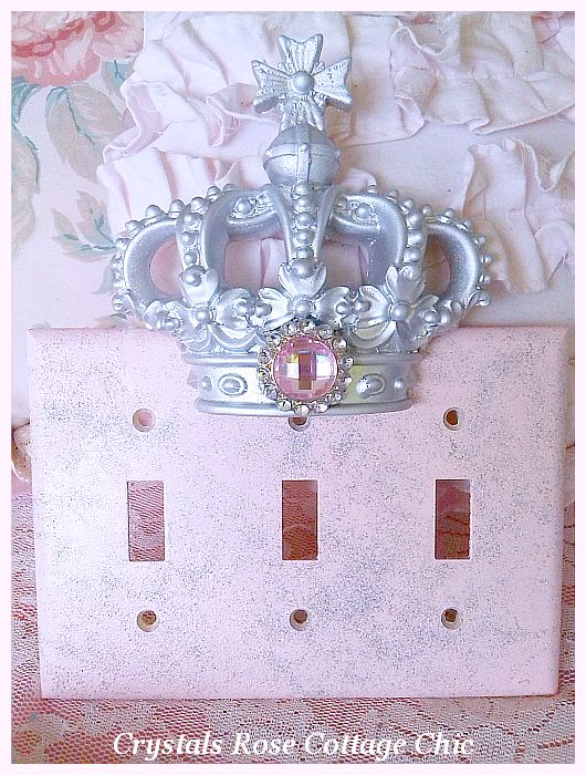 Triple Toggle Crown Wall Plate...Color Choices
