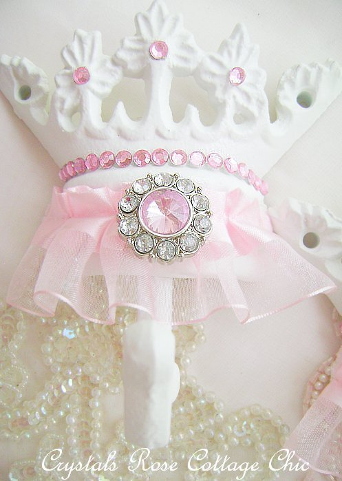 Pink Princess Tutu Wall Crown Hook..Color Choices
