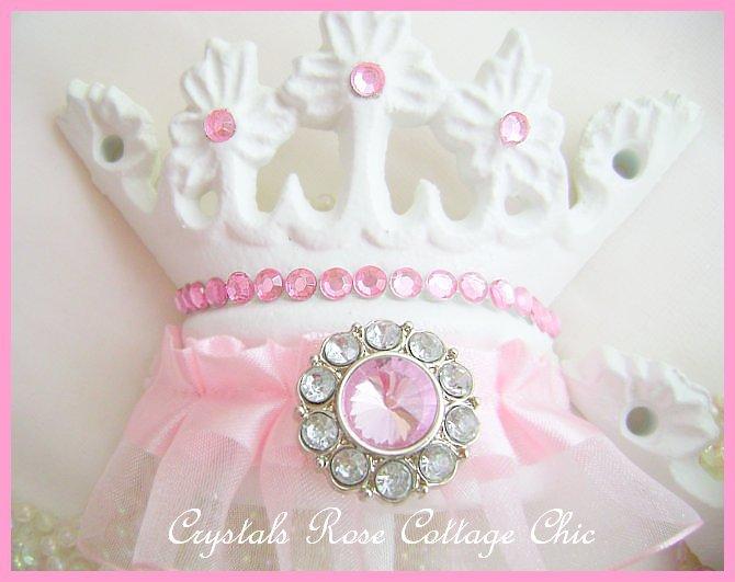 Pink Bling Princess Tutu Bed Crown Set