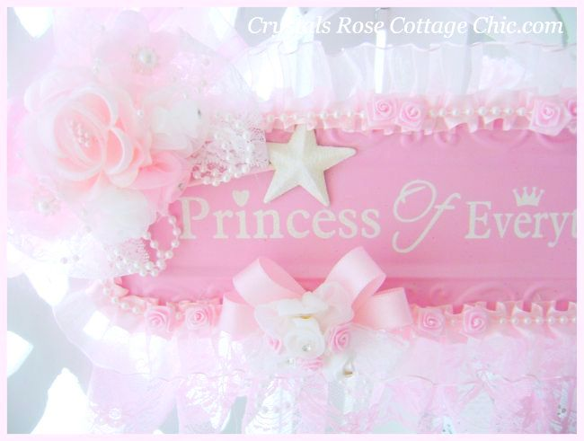 Shabby Pink Princess Wall Decor