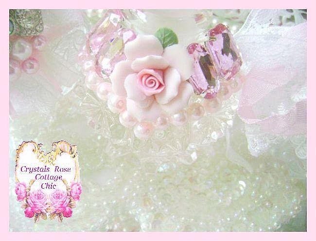 Pink Romance Vintage Bejeweled Perfume Bottle