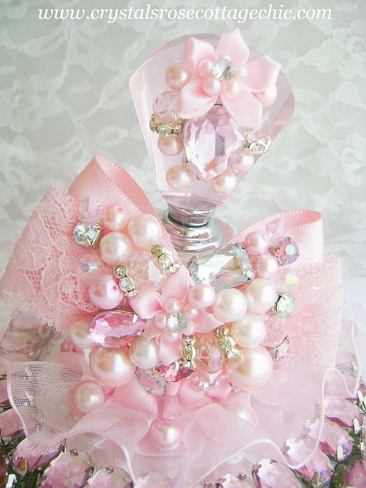 Romantic Pink Bling Perfume Bottle