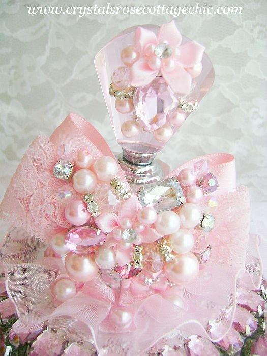 Romantic Pink Bling Perfume Bottle