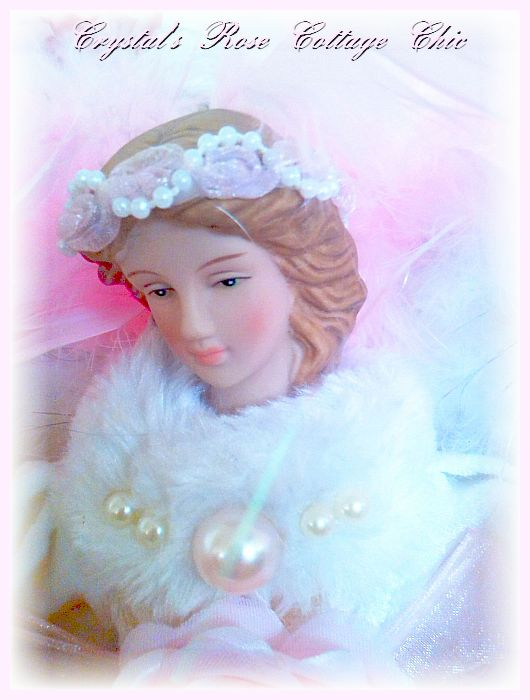 Victorian Pink Lace Angel Tree Topper