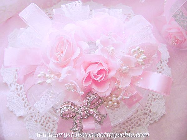 Pink Rose Romantic Bejeweled Candy Dish