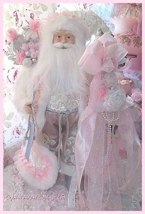 Pink Ruffles and Rose Lace Santa