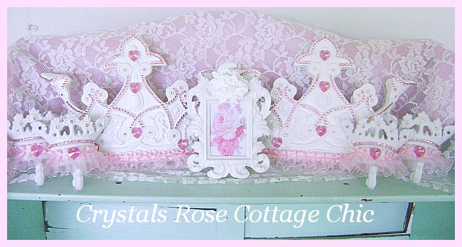 Pink Princess Swarovski Crystal Bed Crown