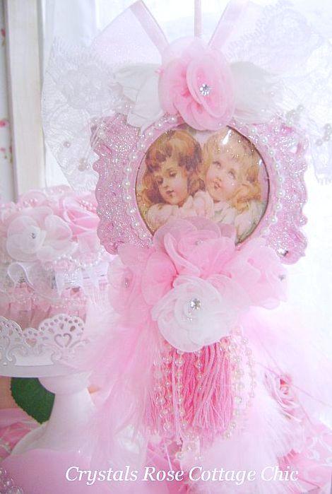 Vintage Victorian Cherub Ornament
