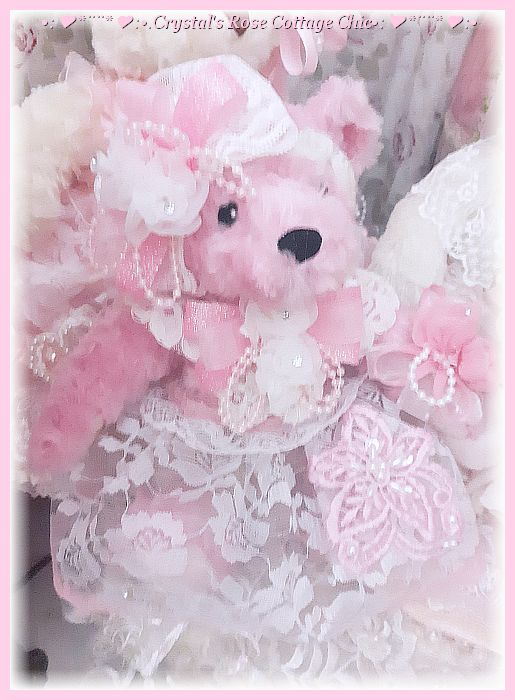 Sweet Lil' Pink Bear in Lace