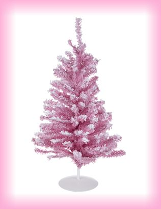 Pretty Pink Flocked Christmas Tree