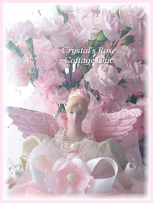 Pink La Fleur Angel Tree Topper