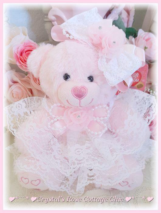 Sweet Pink Heart Bear