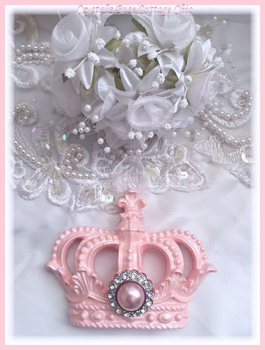 Pink Pearl Crown Ornament...Free Shipping