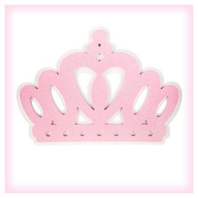 Pink Princess Crown Wall Decor