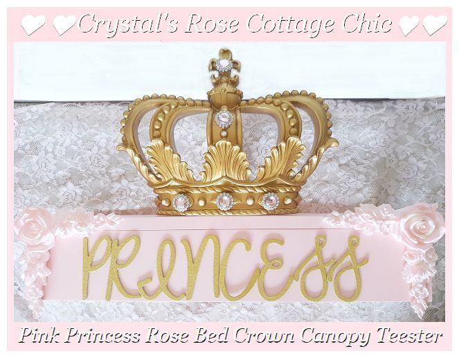 Pink Princess Bed Crown Canopy Teester with Color Options