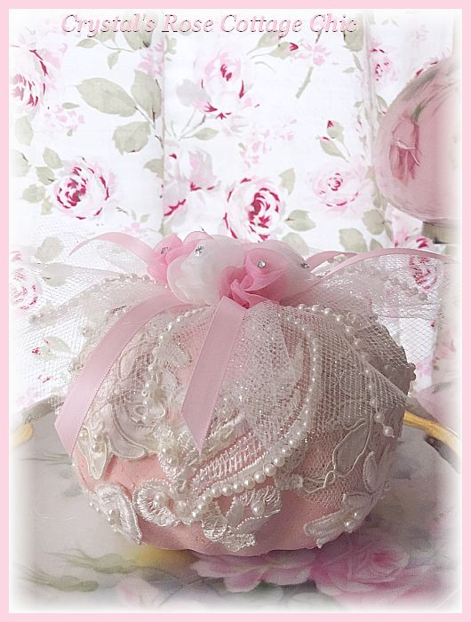 Lace and Rosettes Pink Pumpkin