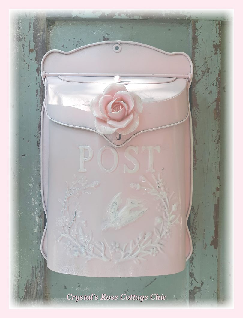 Shabby Chic Rose Embossed Letter Box....Color Options