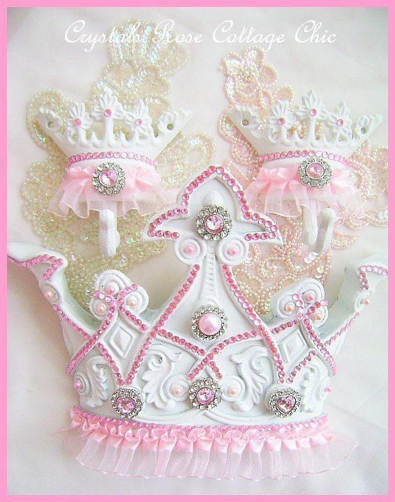 Pink Bling Princess Tutu Bed Crown Set