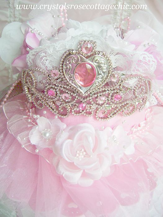 Pink Princess Tutu Crown Pumpkin Decor