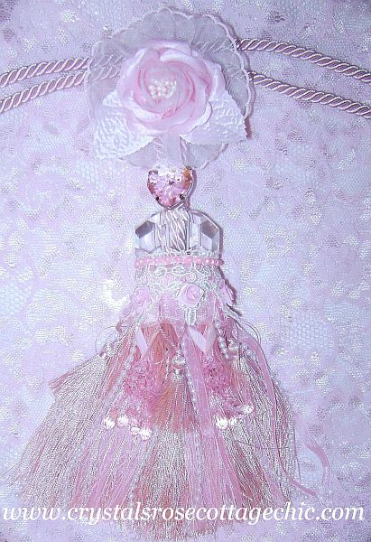 Pink Rhinestone Victorian Tassel