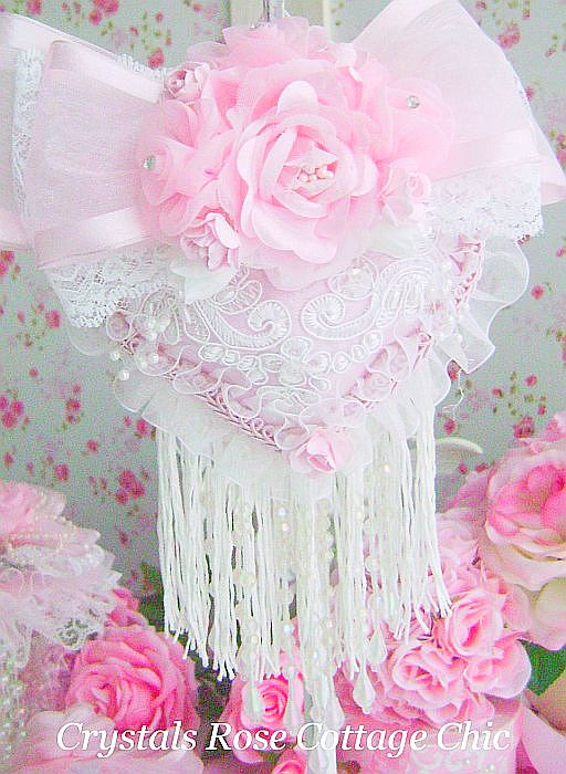 Pink Rose Luxury Victorian Heart