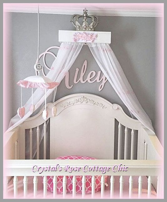 Pink Rose White Teester Bed Crown Canopy