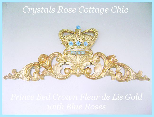 Prince Bed Crown Fleur De Lis / Pediment...Color / Paint Finish Choices