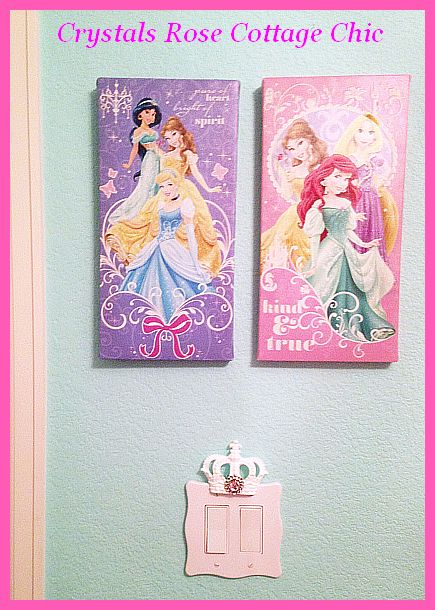 Princess Light Switch Cover Wall Plate Pink Bling
