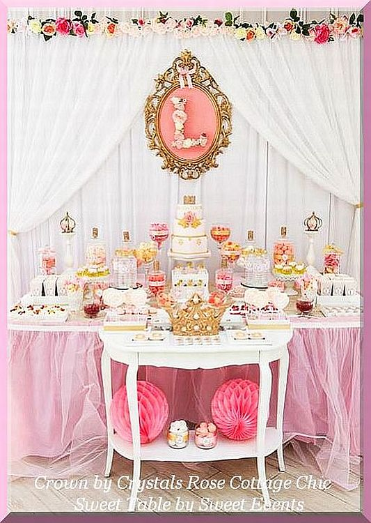 Dessert / Sweet Table Crown Decor..Color Choices