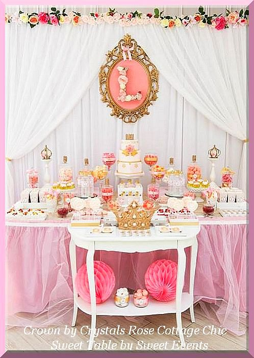 Pink Princess Party Crown Decor