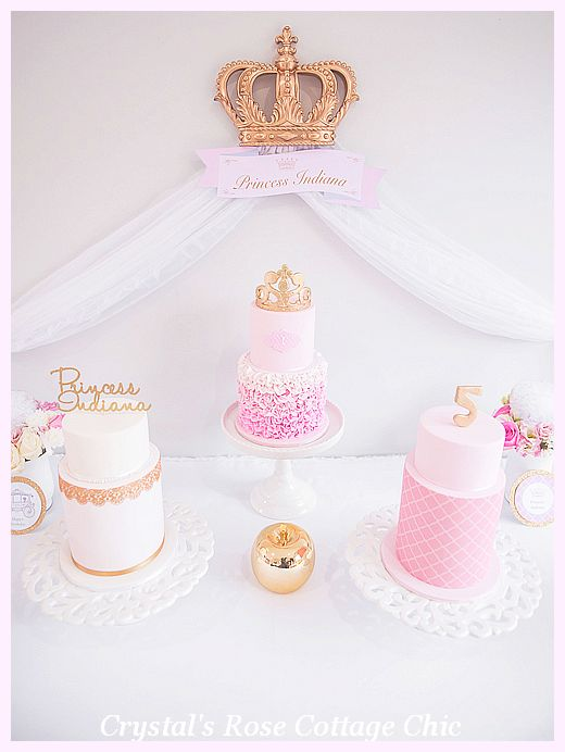 Princess Party Crown Decor Sweet Dessert Table
