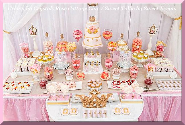Princess Party First Birthday Crown Decor