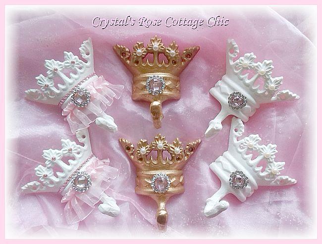 Pink Princess Crown Hooks decor