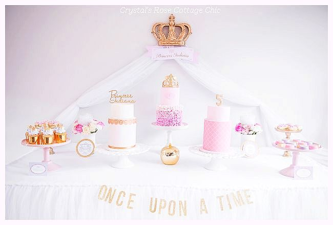 Princess Party Crown Wall Decor Sweet/Dessert Table