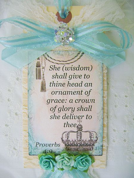 Couture Christian Tag Proverbs 4 verse 9