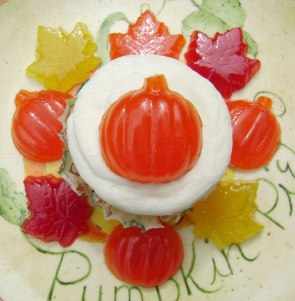 Fun Fall Harvest Pumpkin and Fall Leaf Gummies