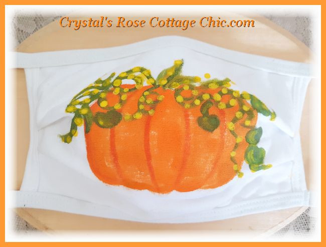 Pumpkin Face Mask....Adult or Child Sizes...Free Shipping