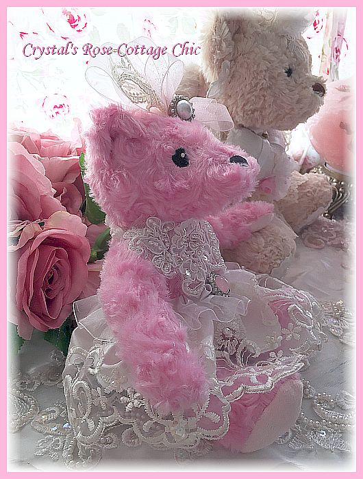 Raspberry Kisses Keepsake Bear