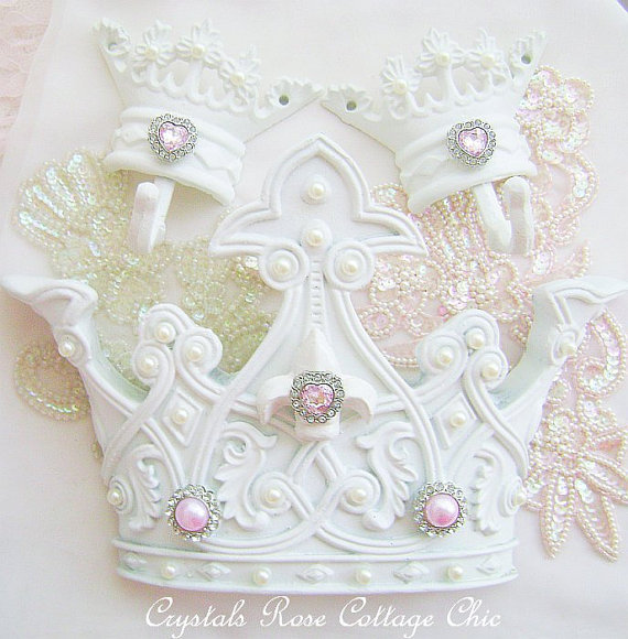 Romantic French Fleur de Lis Bed Crown Canopy