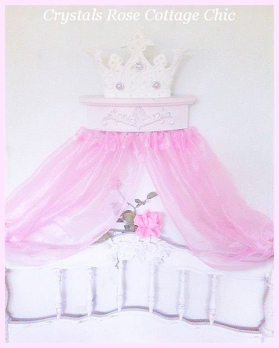 Romantic French Pink Princess Bed Crown...Color Choices