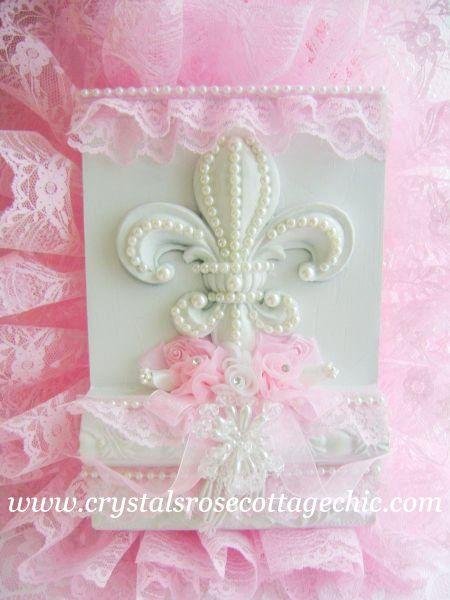 Romantic Pink Lace Fleur De Lis