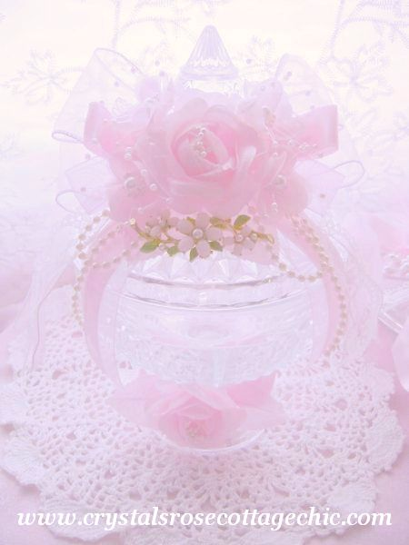 Beautiful Vintage Bejeweled Pasabache Candy Dish