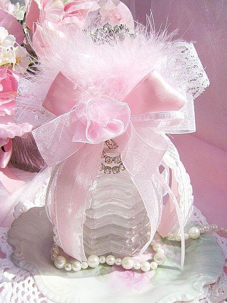 Romantic Pink Vintage Bath Bottle