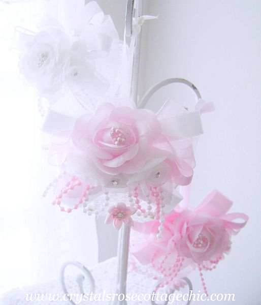 Romantic Rose Pink and White Ornament